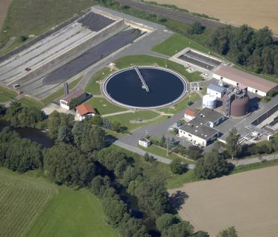 Kronach Süd treatment plant in Upper Franconia, Germany