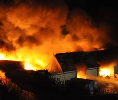 Major fire at the recycling centre in Pforzen